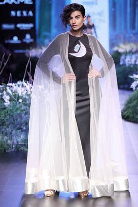 Masaba-gupta-2-cape-sheer-gown-graphic-print-lfw-17