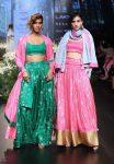 Masaba-gupta-pink-green-lehenga-lfw-2017-winter-festive