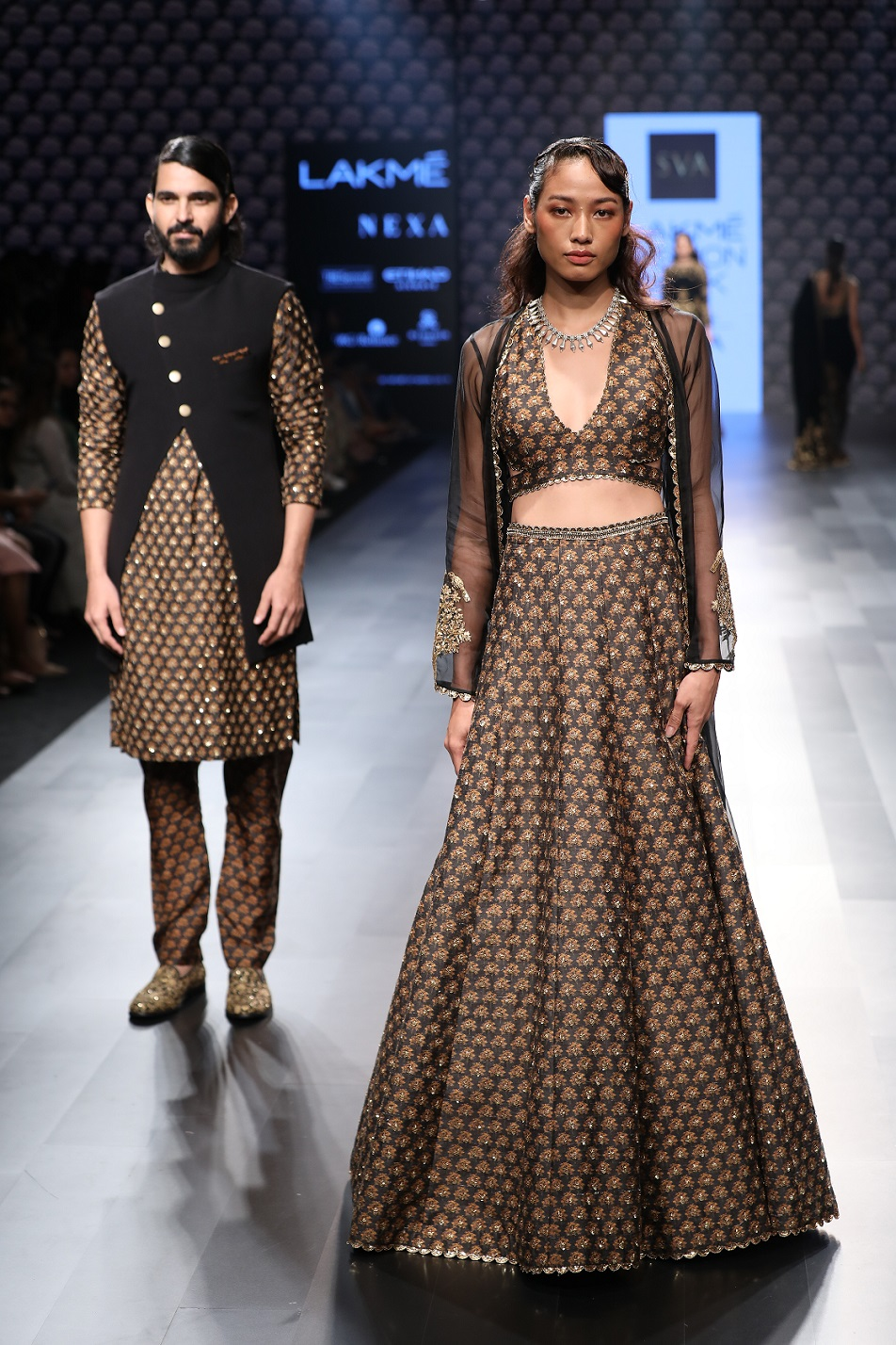 Models walk for SVA by Sonam and Paras Modi at Lakme Fashion Week WF 17