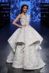 Showstopper-Diana-Penty-designer-Shriya-Som-strapless-embroidery-gown-Lakme-Fashion-Week-Winter-2017