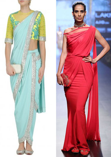 gown-and-skirt-style-pre-draped-sarees-designs-fall-2017