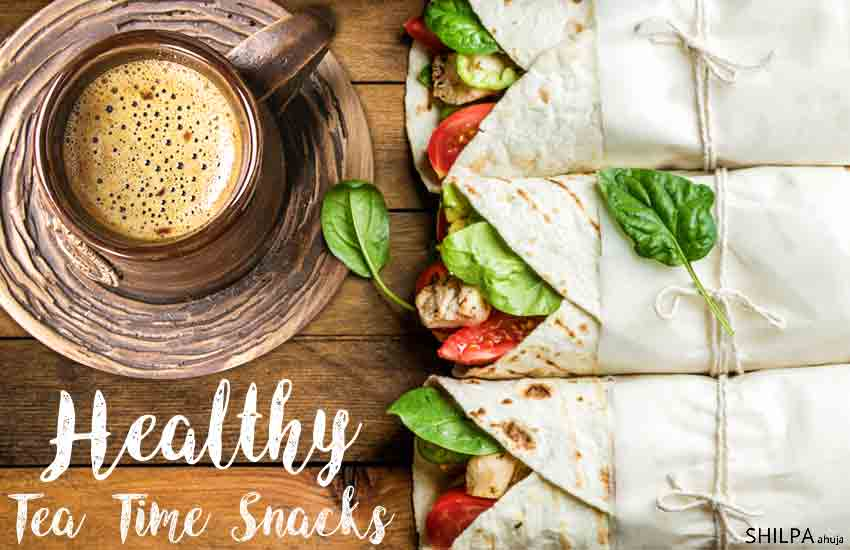 healthy tea time snacks healthy-tea-time-snacks-wrap-tortilla-evening