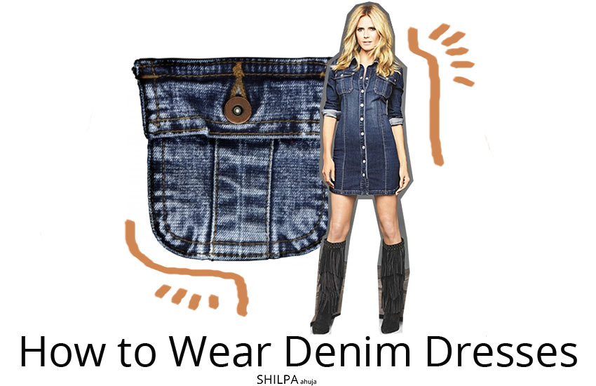 how-to-wear-denim-dresses-style-fashion-denim-fall-winter-2017-18