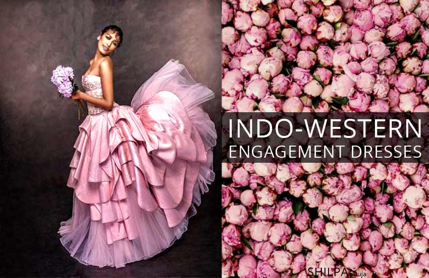 indo western engagement dresses indo-western-engagement-outfit-ideas-poofy-layered-gown-strapless