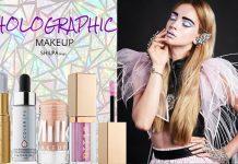 latest-Holographic-Makeup-bag-trend-eyeglitter-stick-lipgloss-mascara-eyeliner-fall-2017
