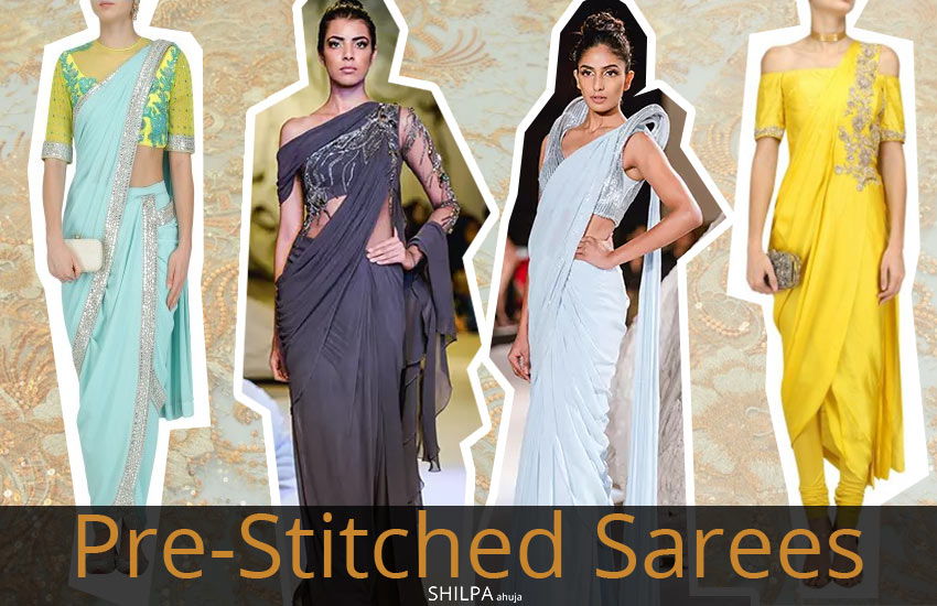 Pre Stitched Saree-designer-wear-for-different-occasions-pre-draped-fall-winter-2017