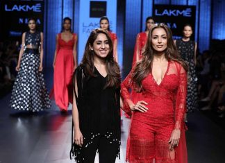 CELEB-Malaika-Arora-khan-designer-riddhi-mehra-sherr-red-dress-at-lakme-fashion-week-winter-2017