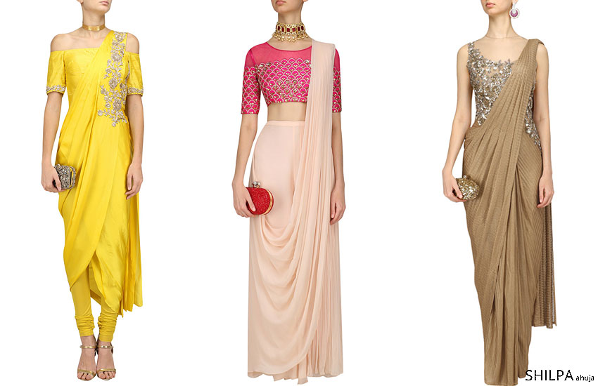 saree-style-indo-western-bride-engagement-dhoti-pant-gown-saris