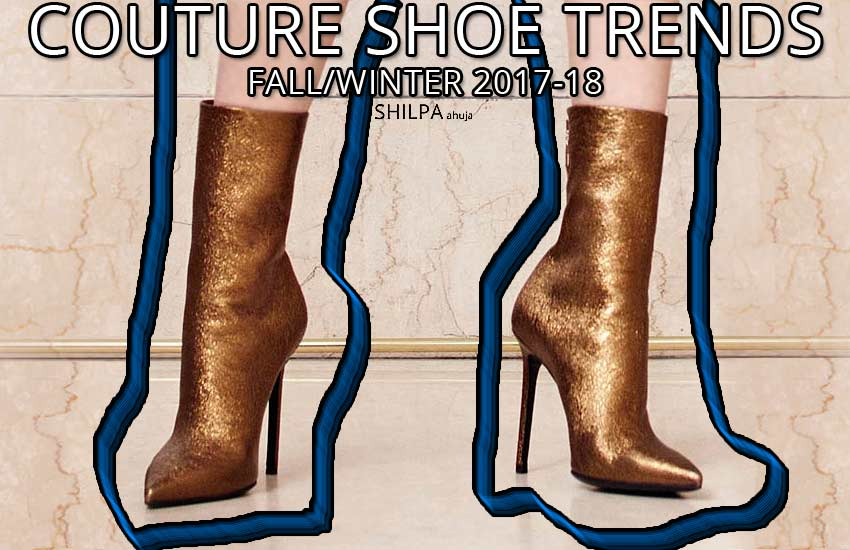 latest shoe fashion shoes-trends-couture-2017-fw17-pointy-toe-metallic-chanel-skinny-booties