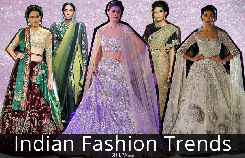 Indian Fashion Trends-indian-designer-gowns-sarees-lehengas-winter-2017-2018