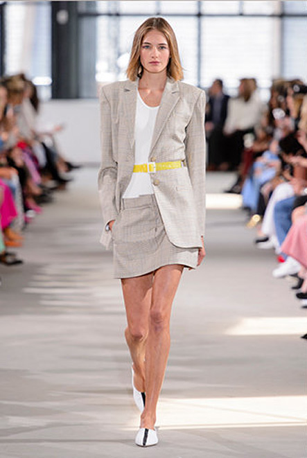 Tibi-Spring-Summer-2018-SS18-outfit (4)-skirt-suit-half-belt