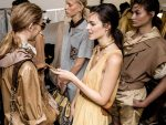 Tods-spring-summer-2018-SS18-collections-rtw-dresses (5)-backstage-scenes-models-metallic-scarf