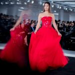 bella-hadid-red-leather-tulle-gown-ralph-lauren-fashion-photography