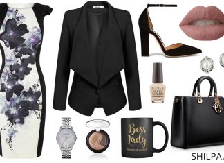 chic-casual-office-wear-boss-lady-look-printed-dress-blazer-casual-friday-semi-formal-outfit
