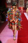 dolce-and-gabbana-spring-summer-2018-ss18-rtw (96)-colorful-feathers-look