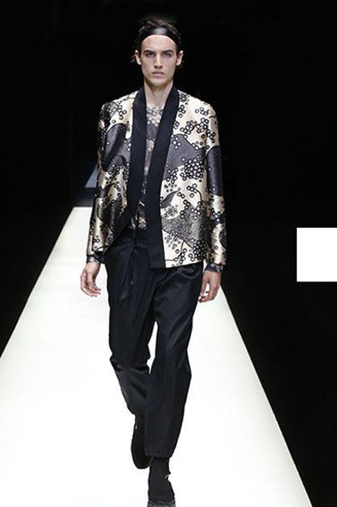emporio-armani-spring-summer-2018-ss18-rtw (69)-gold-black-kimono-jacket