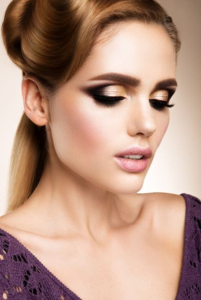 glam-evening-retro-hairdo latest party makeup guide-style-tips-2017