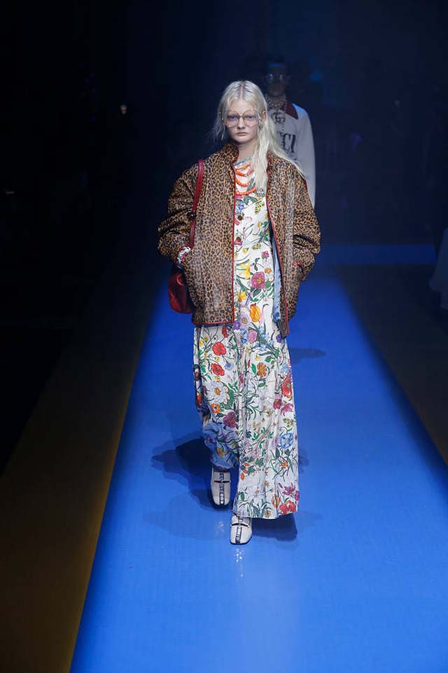 d23583e1f Gucci Spring Summer 2018 Collection | Multicultural Gala at MFW