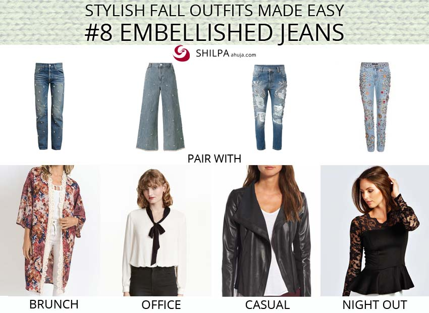 how-to-style-embellished-jeans-advice-fall-winter-fashion-2017-2018