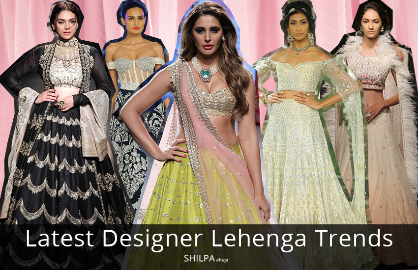 latest designer lehenga trends for 2018 shilpaahuja com
