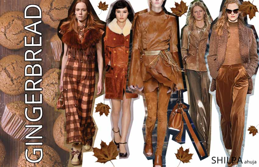 popular fall fashion colors brown-shades-warm-woody-tones-gingerbread-fall-2017