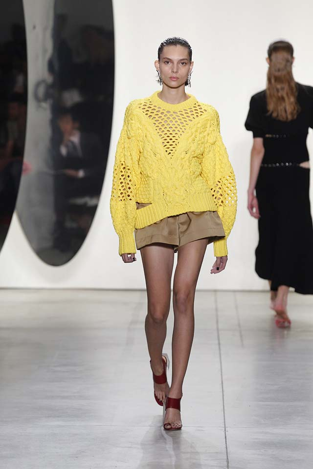 prabal-gurung-spring-summer-2018-ss18-collection-outfits (18)-yellow-sweater