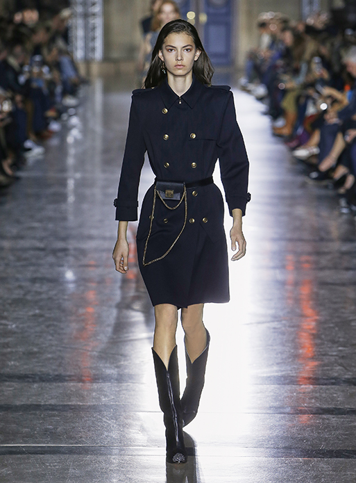Givenchy Spring Summer 2018-SS18-collection-rtw-dresses (1)-double-buttoned-coat-blue-dress