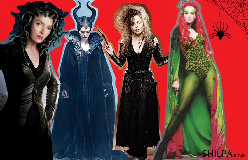 creative-halloween-costume-ideas-movie-villains-maleficent-bellatrix-poison-ivy-medusa