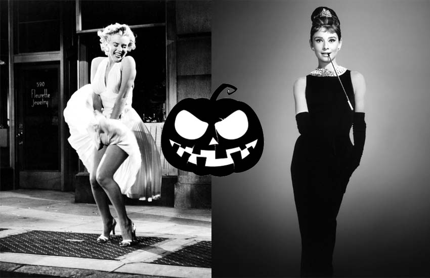 latest-halloween-costumes-outfit-ideas-hollywood-icons-marilyn-monroe-audrey-hepburn