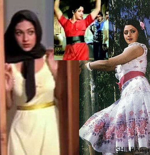 80s-bollywood-fashion-belted-midi-dresses-hema-malini-sri-devi-ghar-aur-sansar-sri-devi