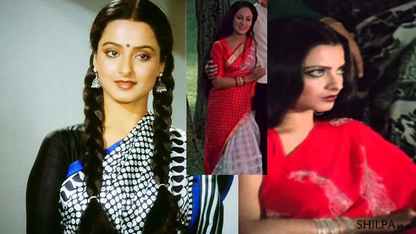 80s-bollywood-fashion-printed-saree-rekha-style