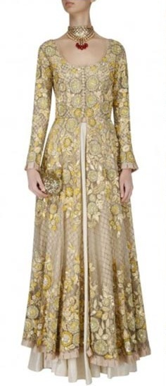 indian-wedding-dresses-long-anarkali--gold-skirt-elegant-outfit-ideas-style-tips