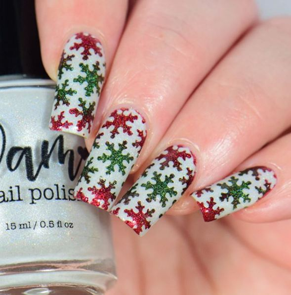 party-holiday-simple-snow-nail-art-ideas-designs-shimmery-festive-colors