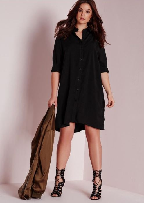 trendy-plus-size-college-fashion-ideas-looks-wrap-fit-and-flare-dress