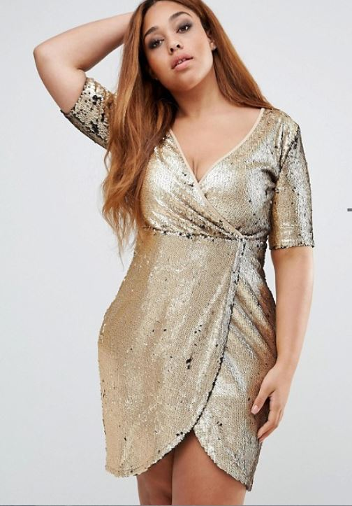 trendy-plus-size-college-fashion-party dress wrap