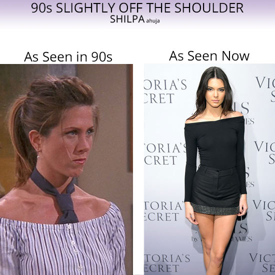 90S-off-the-shoulder-dress-fashion-trends-1990-womens-style