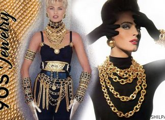 90s-jewelry-trends-1990-jewellery-earring-stack-bracelets-trendy-accessories