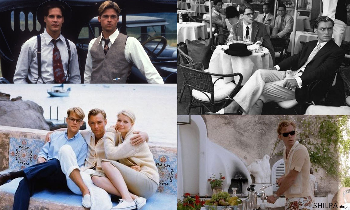 90s men's fashion 90s-preppy-fashion-the-talented-mr-ripley-brad-pitt