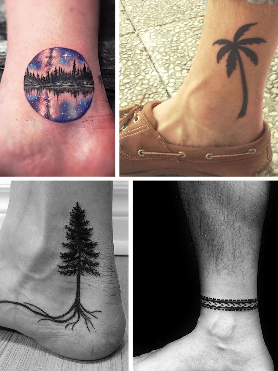 ankle-mens-tattoos-latest-trends-tattoo-styles-tree-anklet