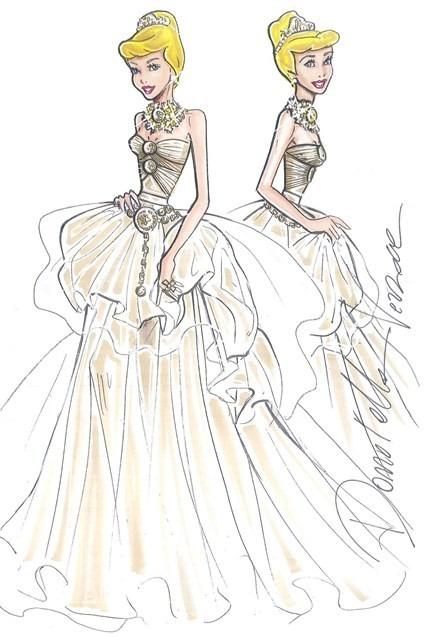 cindrella-ball-gown-bold-necklace-a tiara-versace-medusa-motif