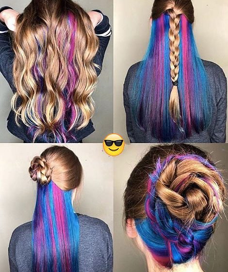 different-type-of-hairstyles-go-ith-underlights-hair-trends