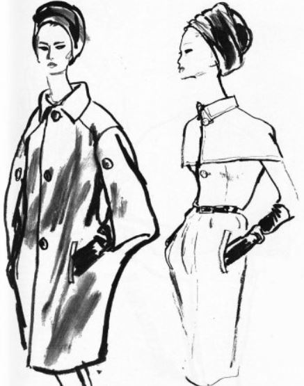 fashion design sketches-givenchy-designing-outerwear