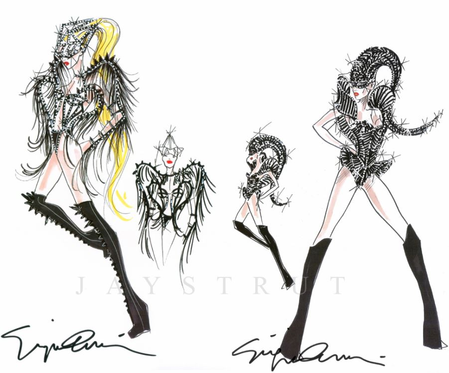 fashion design sketches by worlds top fashion designers