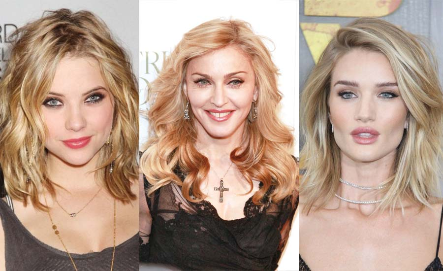 highlights-lowlights-hair-color-ideas-short-long-blonde-hair-madonna