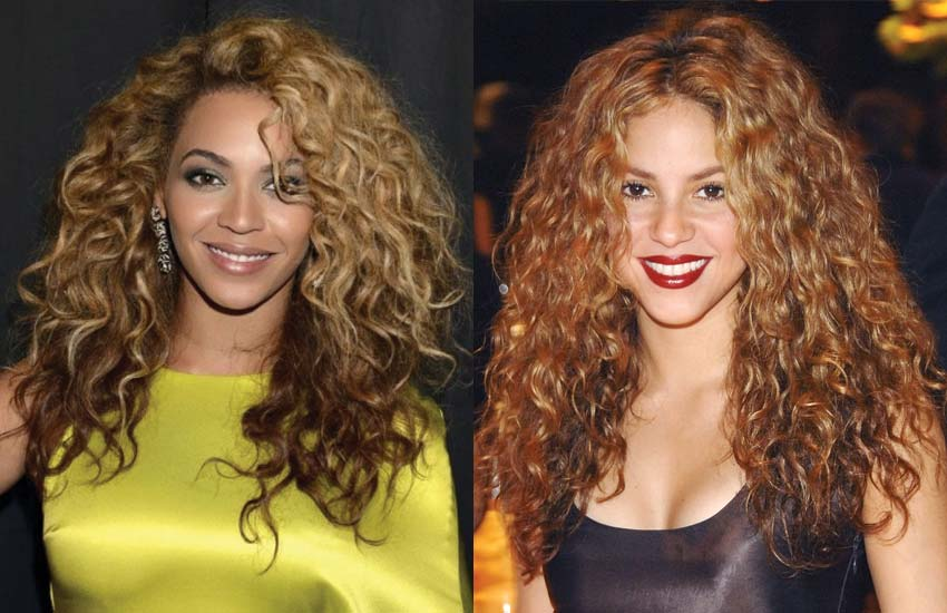 highlights-lowlights-ideas-curly-hair-brown-brunette-blonde-hair-shakira-beyonce