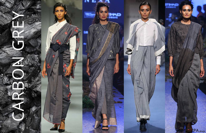 latest-saree-color-shades-Grey-trends-fashion-style-spring-summer-2018