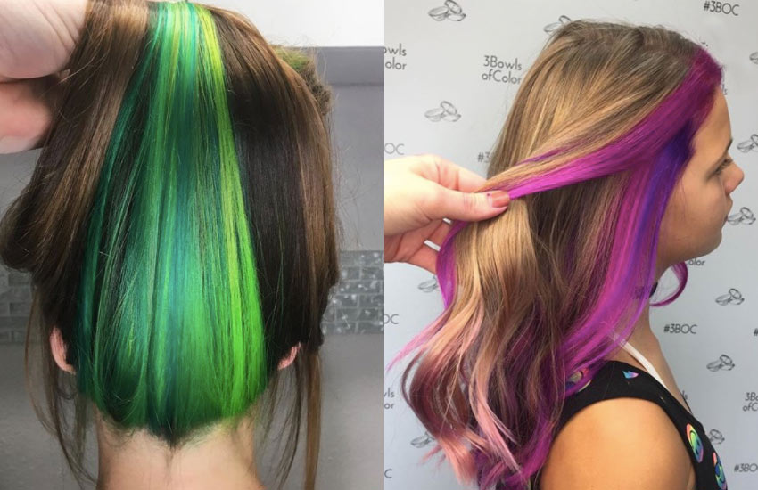 peek-a-boo-hair- olor-technique-rainbow-colors-women-hair-styling-idea