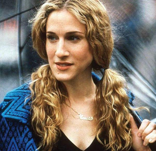 sex-the-city-carrie-bradshaw-curly-hair-pigtails-easy-hairstyles