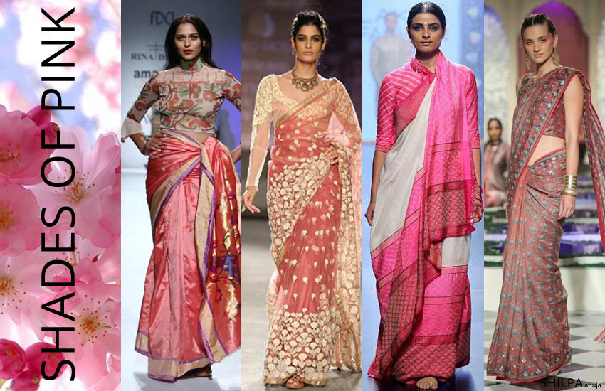 top-saree-colors-Shades-of-Pink-trends-style-fashion-spring-summer-2018