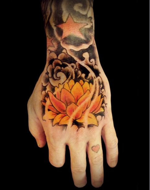 best-latest-yellow-lotus-tattoo-designs-ideas-meaning